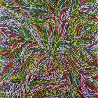 Jeannie Petyarre Bush Yam Leaves Aboriginal Art