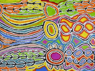 Australian Aboriginal Art JW3930 90x150cm SOLD