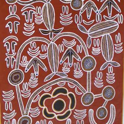 Australian Aboriginal ArtIsts BH9-96x120cm-4500-P