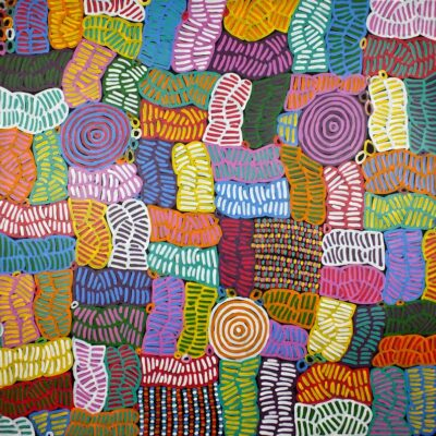 Australian Aboriginal ArtIsts BM1073-120x120cm-1650-P