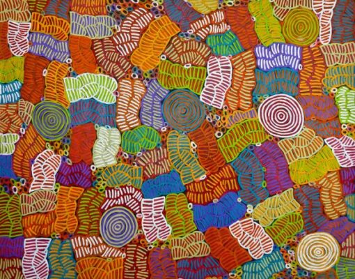 Australian Aboriginal ArtIsts BM252-145x185cm-3250-P