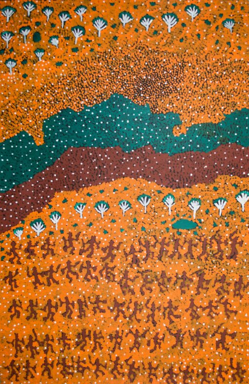 Australian Aboriginal ArtIsts GK1325-90x140cm-3250-P