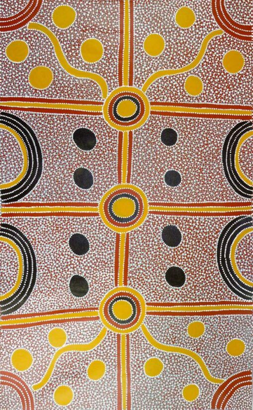 Australian Indigenous Artists LB1010 90x148cm 2450 P