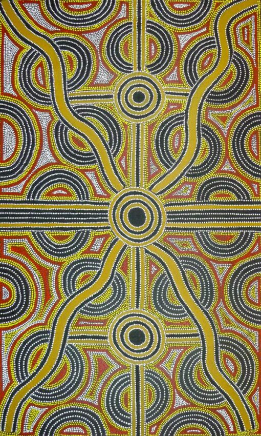 Australian Indigenous Artists LB1034 90x150cm SOLD P